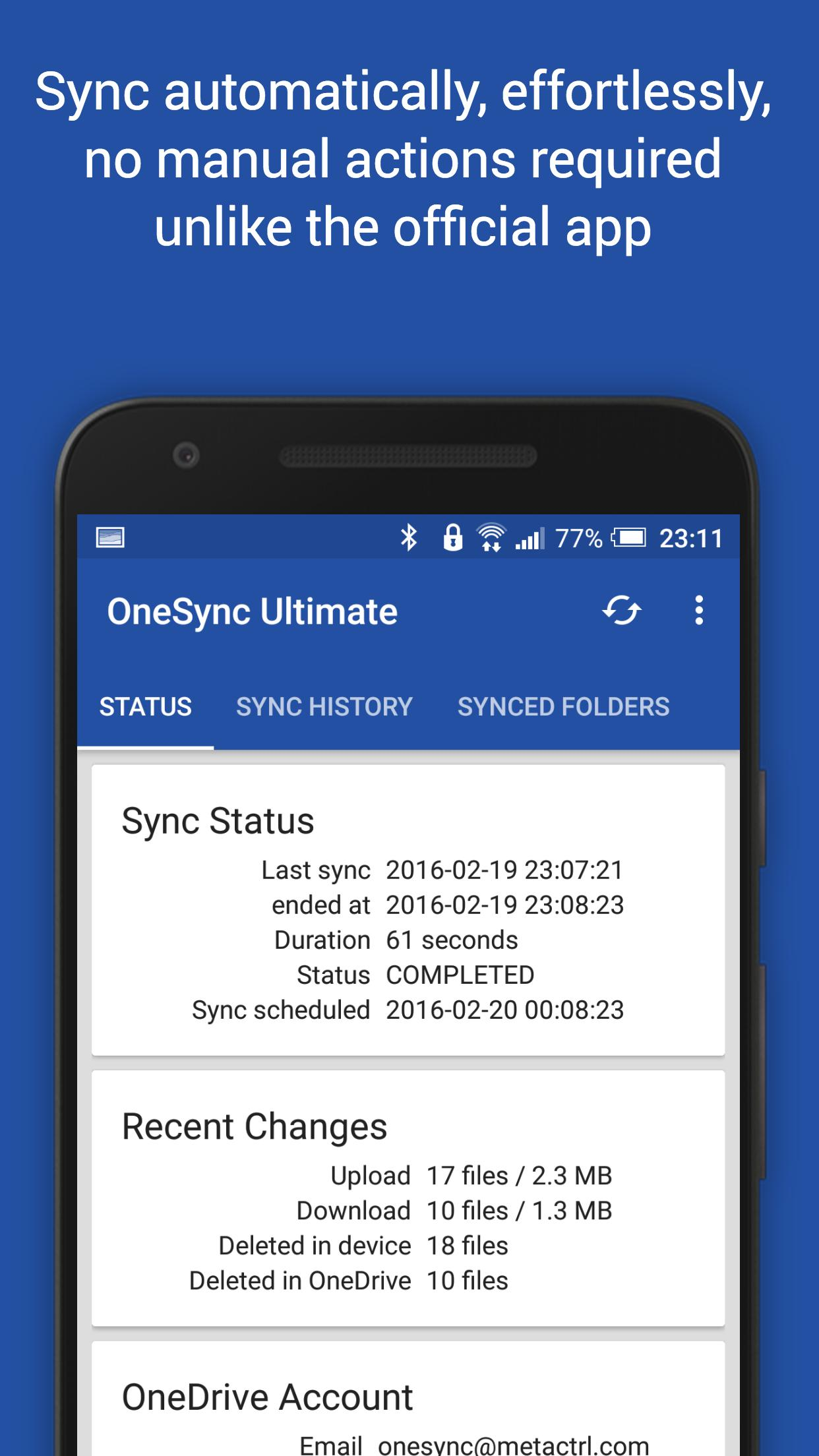 Autosync for OneDrive - OneSync for Android - APK Download