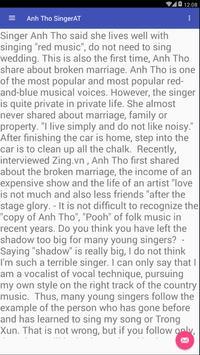 Anh Tho SingerAT screenshot 1