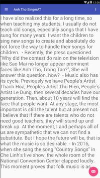 Anh Tho SingerAT screenshot 3