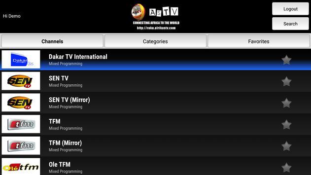 AfrikaSTV - ASTV on Android TV screenshot 1