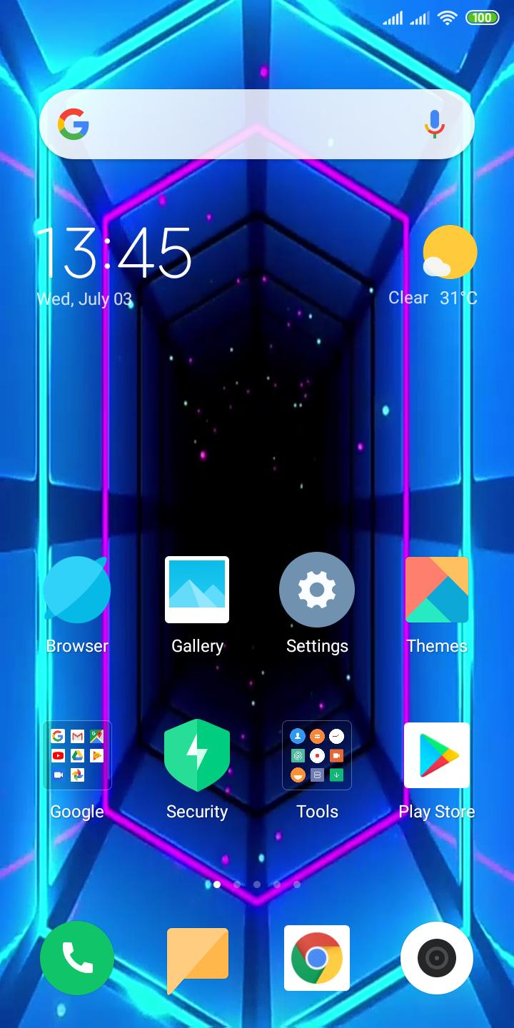 Tunnel Light Neon Live Wallpaper For Android Apk Download