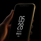 Always On Display Clock Amoled - Edge Light icon