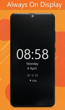 Always On Display Clock Amoled - Edge Light screenshot 1
