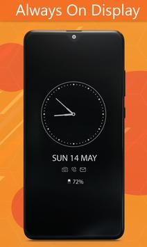 Always On Display Clock Amoled - Edge Light screenshot 2
