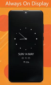 Always On Display Clock Amoled - Edge Light screenshot 3