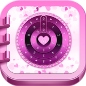 Combination Safe Lock Pink icon