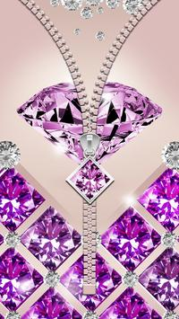 Purple Diamond Zipper Screen poster
