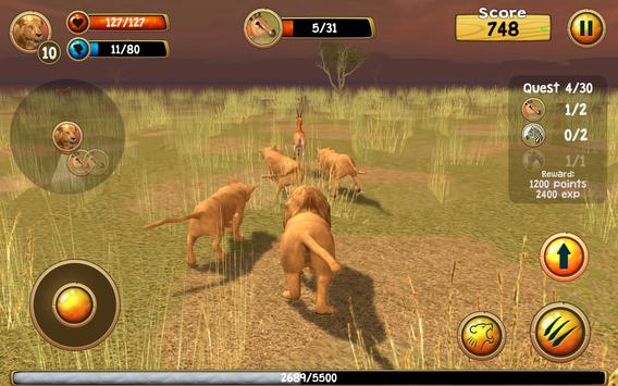 Wild Lion Simulator 3D screenshot 10