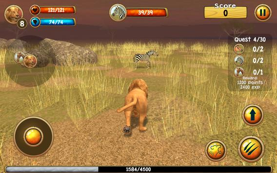Wild Lion Simulator 3D screenshot 11