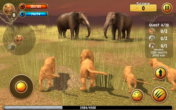 Wild Lion Simulator 3D screenshot 1