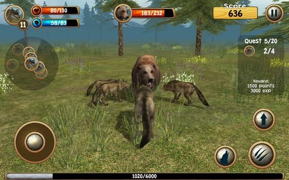 Wild Wolf Simulator 3D screenshot 13