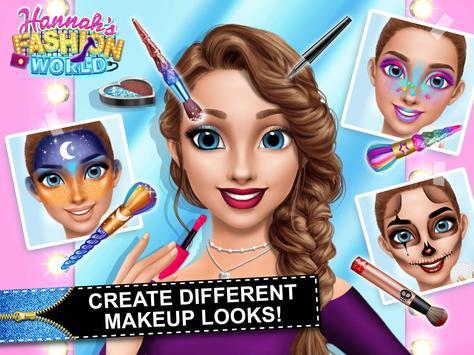 Hannah's Fashion World - Dress Up & Makeup Salon screenshot 9