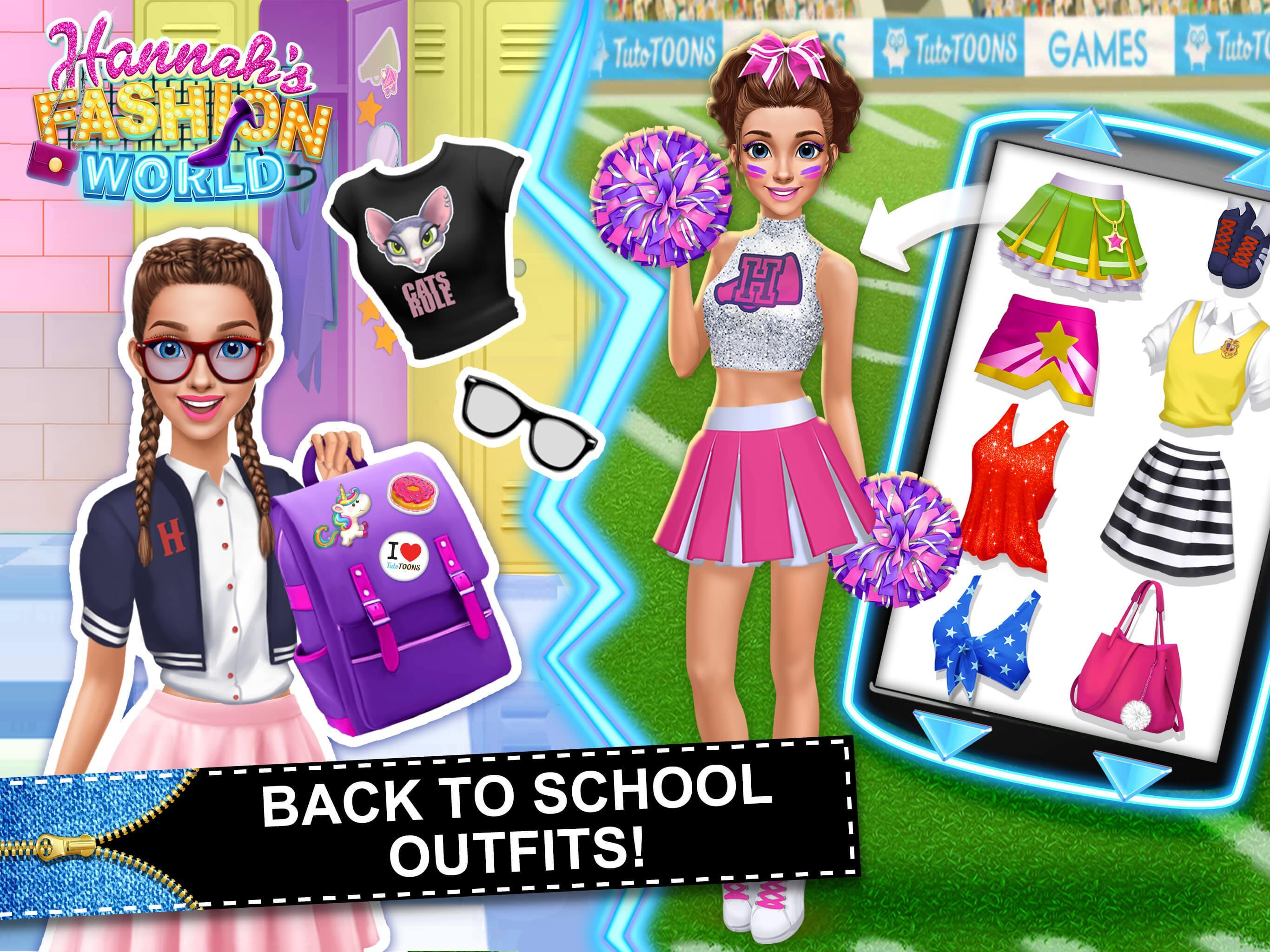 Hannah S Fashion World Dress Up Makeup Salon For Android Apk Download