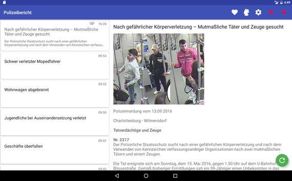 Polizeibericht screenshot 8