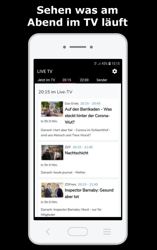 Kostenlos Fernsehen Android