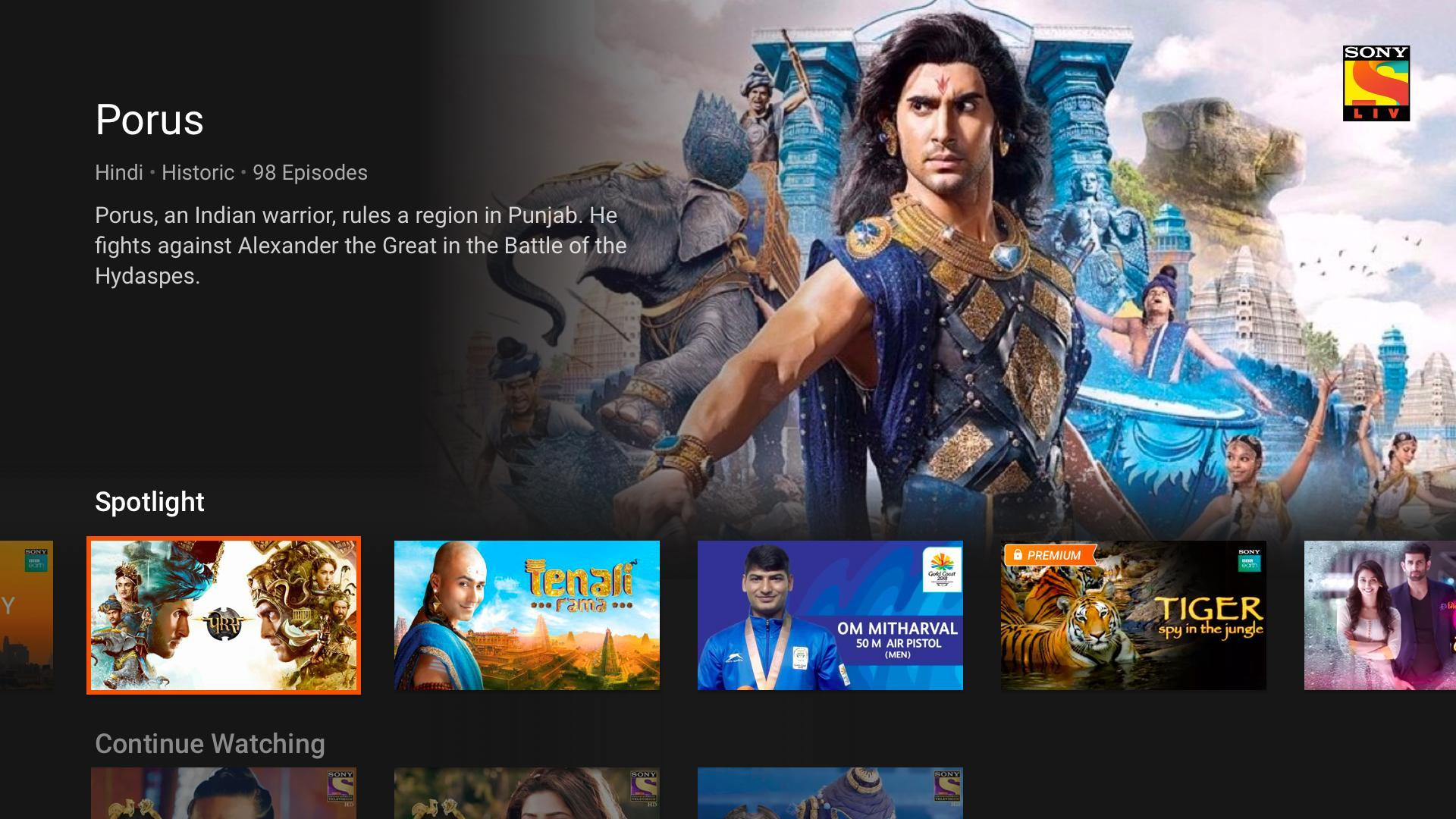 SonyLIV - TV Shows, Movies & Live Sports Online TV for