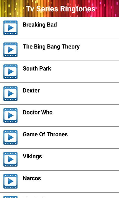 TV Series Ringtones - Theme Songs for Android - APK Download