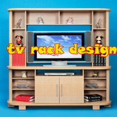 tv rack design icon
