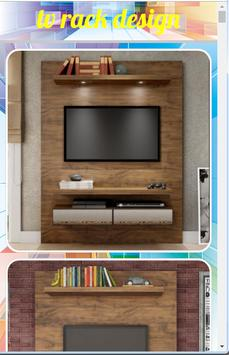 tv rack design poster