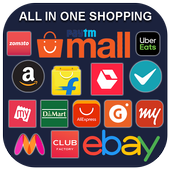 all in one shopping app - 999+ shopping app icon