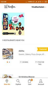 Twifoo Food Order & Delivery screenshot 1