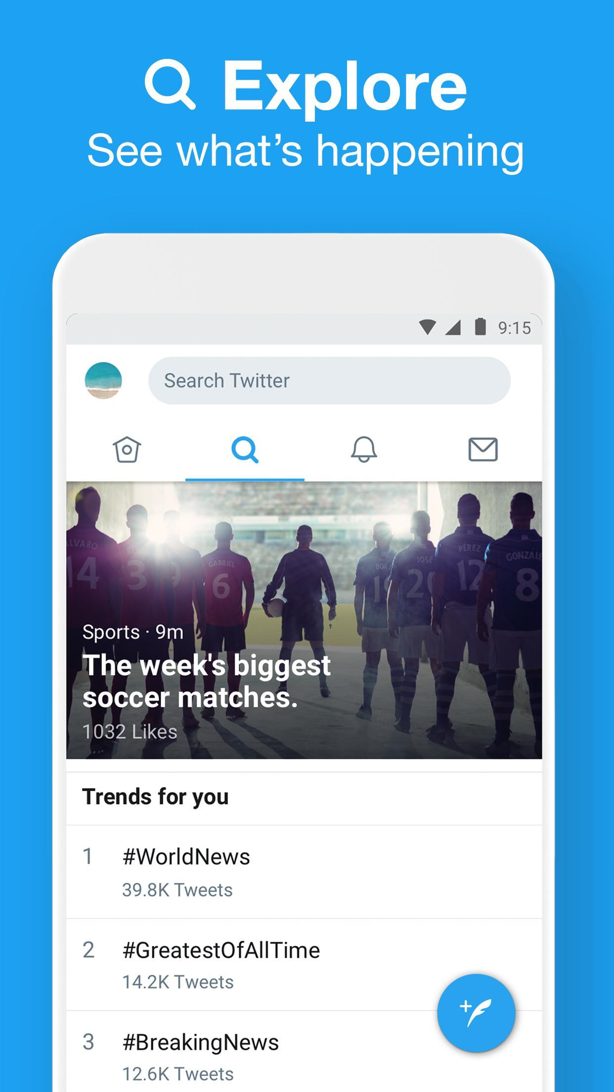 Twitter Lite download app for Android - eenternet