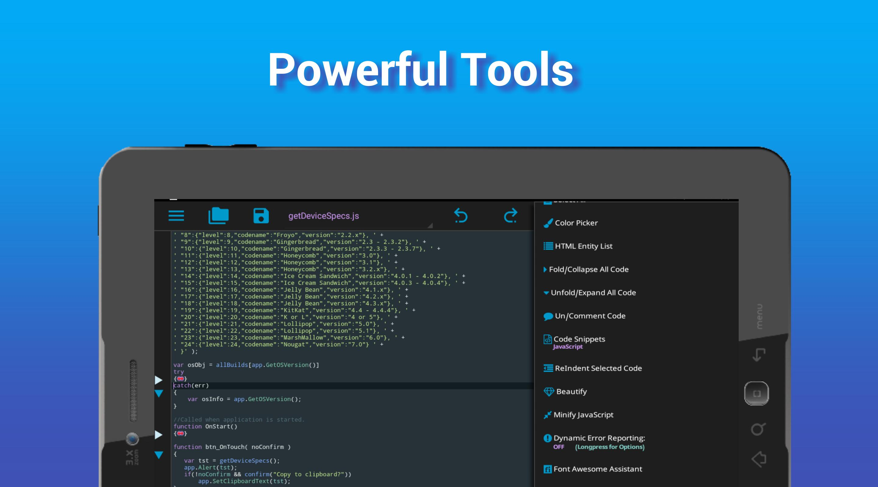 I<code> Go - Code Editor / IDE / Online Compiler for Android - APK