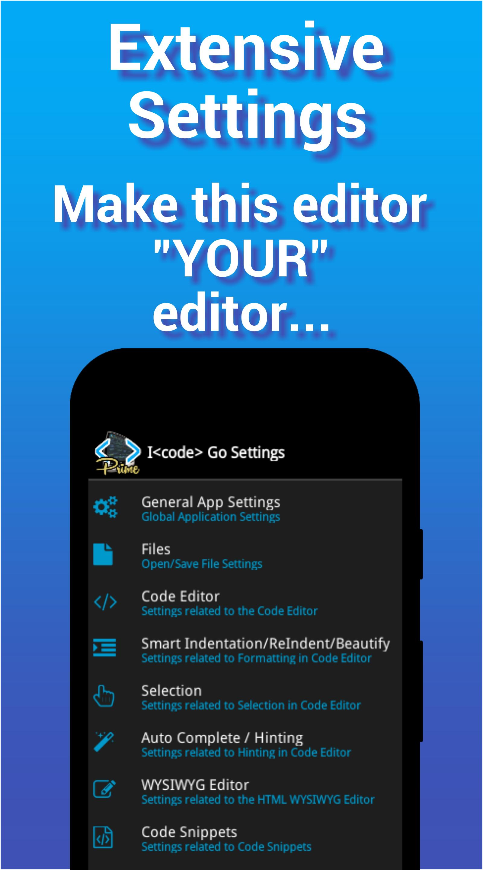 I<code> Go - Code Editor / IDE / Online Compiler for Android