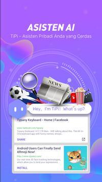 Typany Emoji Keyboard-Pesan DIY, & Foto Keyboard screenshot 6