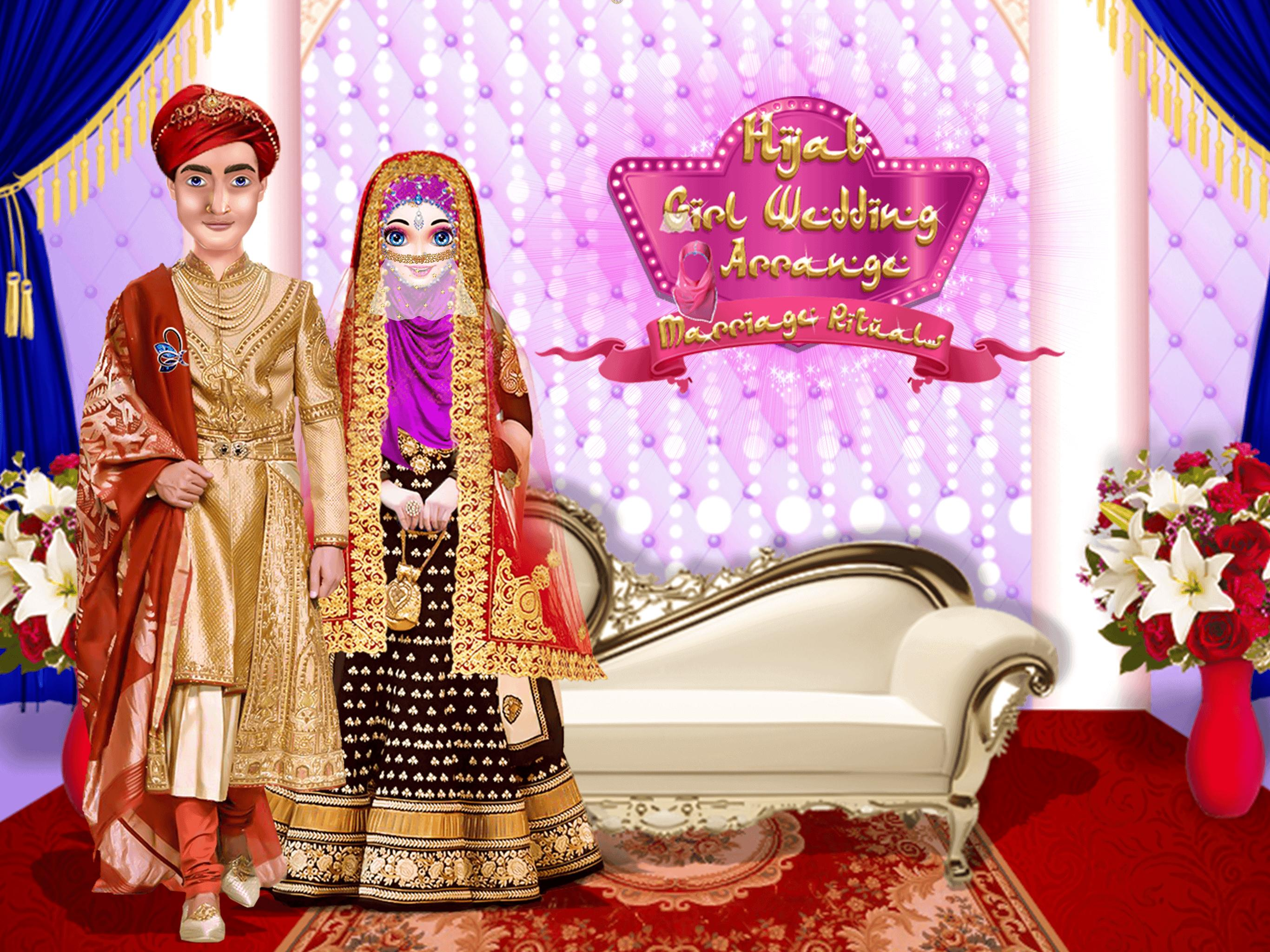 Hijab Girl Wedding - Arrange Marriage Rituals for Android
