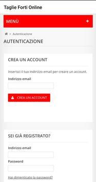 Taglie Forti Online screenshot 1