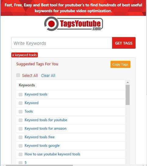 youtube tags generator tool