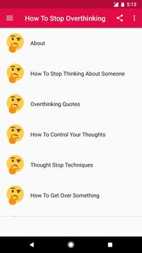 How To Stop Overthinking screenshot 1