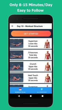 演習は、腹の脂肪を失うため演習は、腹の脂肪を失うために - 7分腹筋ワークアウトに スクリーンショット 10