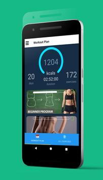 演習は、腹の脂肪を失うため演習は、腹の脂肪を失うために - 7分腹筋ワークアウトに スクリーンショット 2