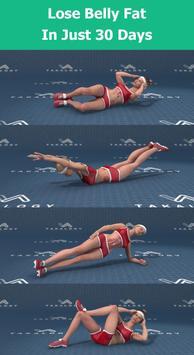 演習は、腹の脂肪を失うため演習は、腹の脂肪を失うために - 7分腹筋ワークアウトに ポスター