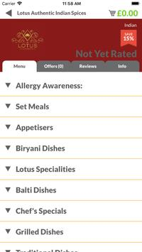 Lotus Authentic Indian Spices screenshot 1