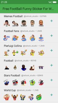 Free FootBall Funny Sticker For WAStickerApp screenshot 3