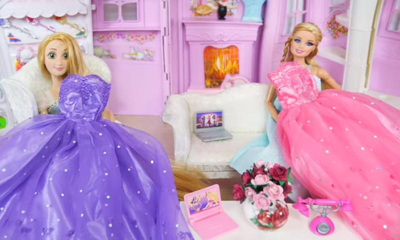 Twin Barbie Doll Bunk Bed Routine Dress Up For Android