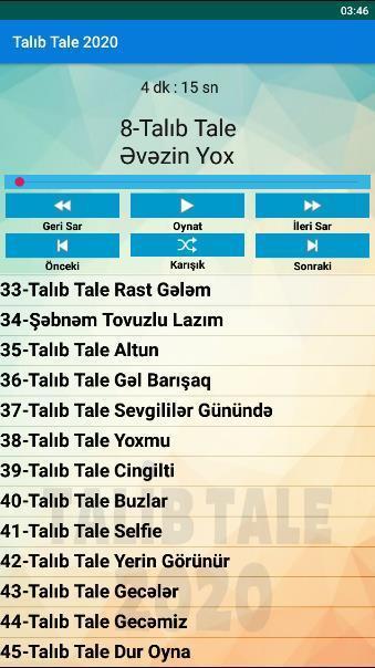 Talib Tale Mahnilar 2020 Internetsiz For Android Apk Download
