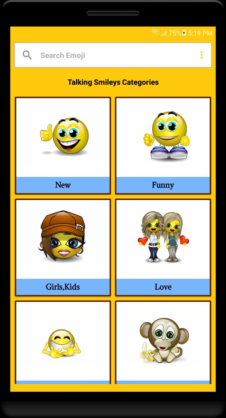 Smiley Face Emoji - New Animated Emojis Stickers for Android