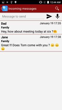 Talking messages for WhatsApp تصوير الشاشة 1