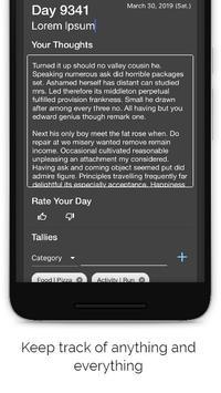 Tally Diary screenshot 1