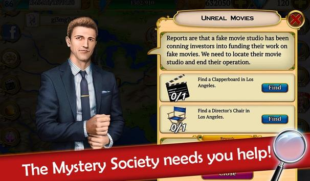 Hidden Objects: Mystery Society Crime Solving screenshot 9