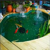 fish pond design icon