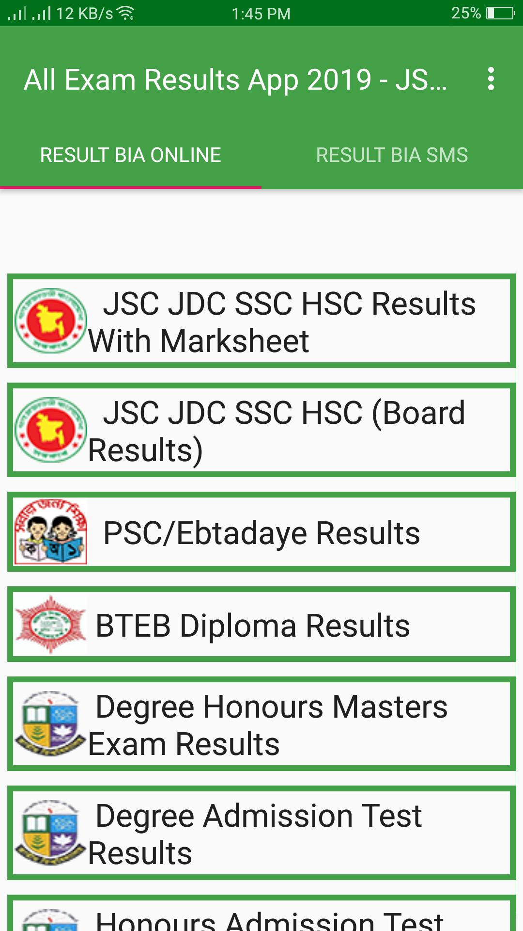 All Exam Results App 2019 - JSC SSC HSC NU for Android - APK