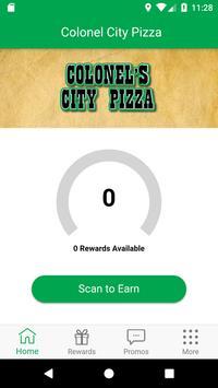 Colonel City Pizza Rewards poster