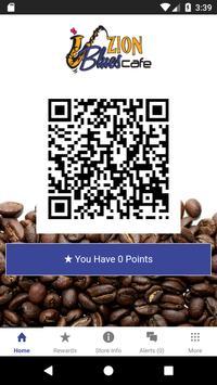Zion Blues Cafe Rewards poster