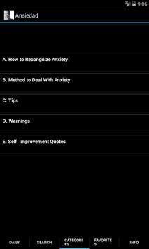 Anxiety - Tips & Quotes screenshot 1