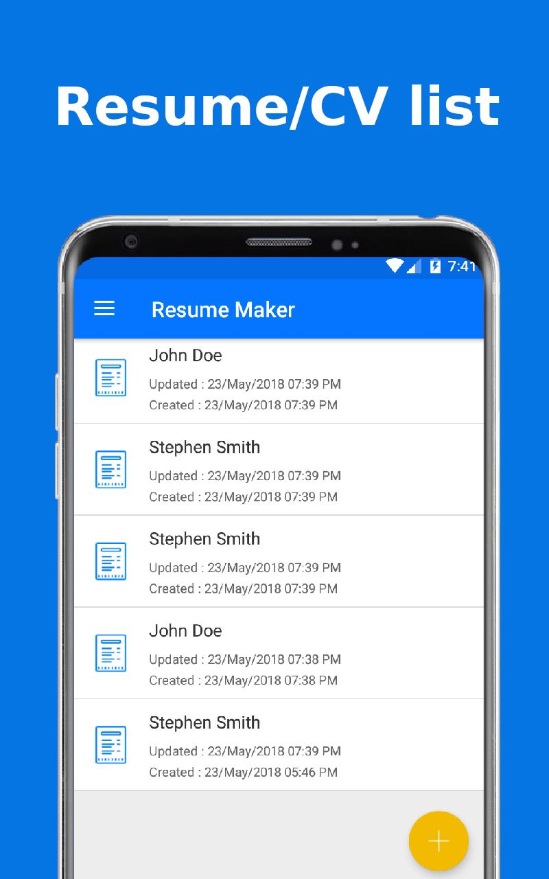 Top Resume Pdf Builder For Freshers And Experience For Android Apk Download
